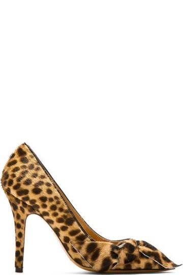 Isabel Marant Beige Leopard Calf-hair Pumps