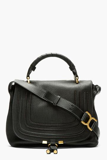 Chloe Black Leather Marcie Medium Messenger Bag