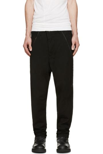 Julius Black Twill Harem Jeans