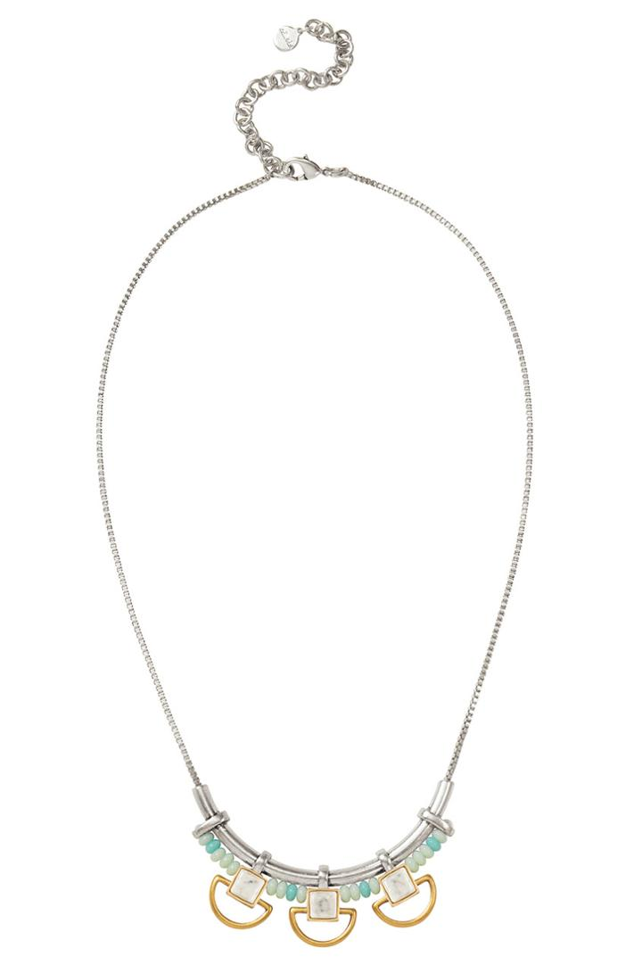 Stella & Dot Wanderer Necklace - Silver