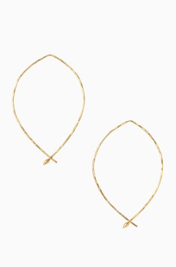 Stella & Dot Hammered Wire Large Hoops - Gold
