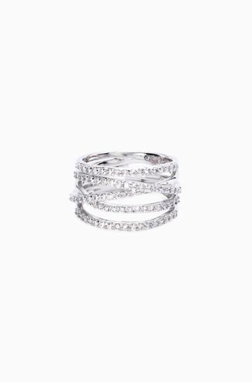 Stella & Dot Stellar Pave Ring - Silver