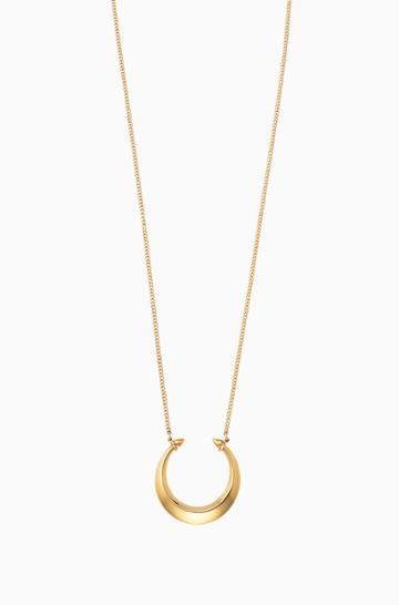 Stella & Dot Double Horn Pendant Necklace - Gold