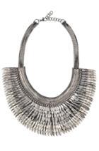 Stella & Dot Pegasus Necklace- Silver