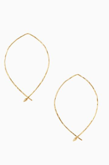Stella & Dot Hammered Wire Large Hoops