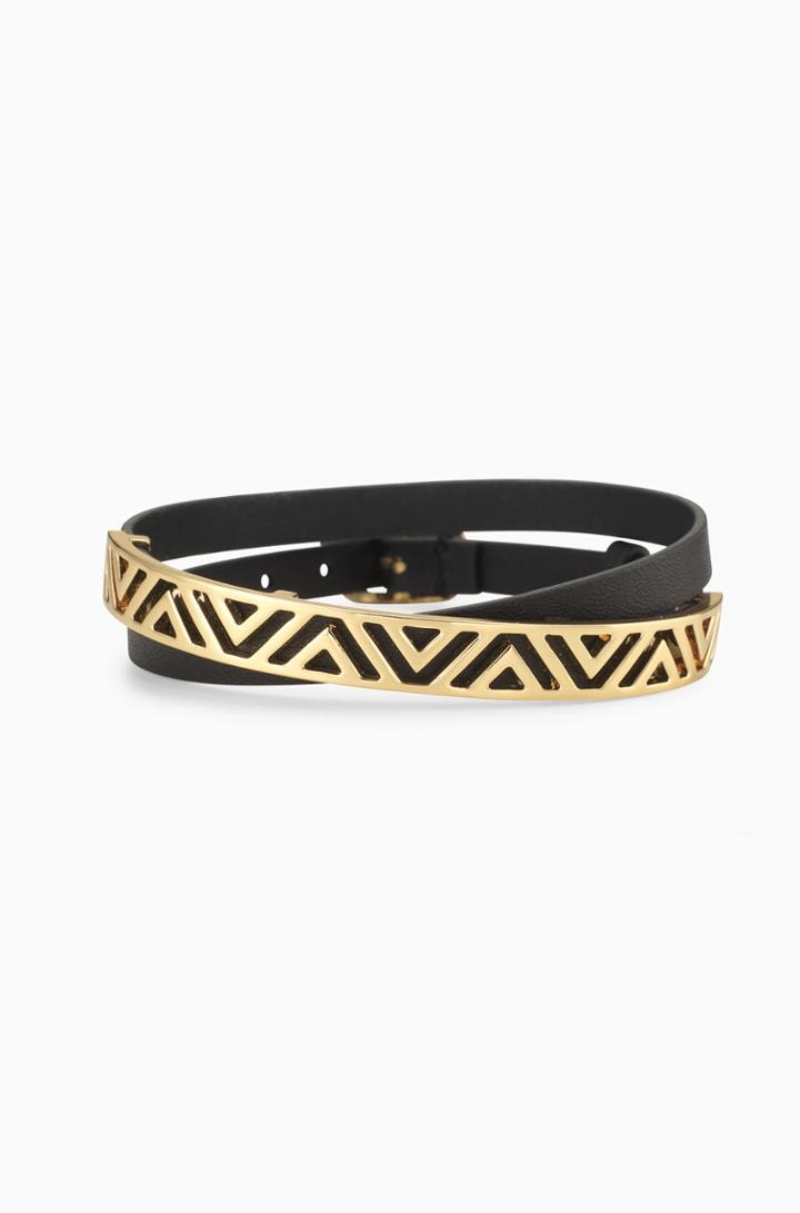 Stella & Dot Ally Double Wrap Bracelet - Black