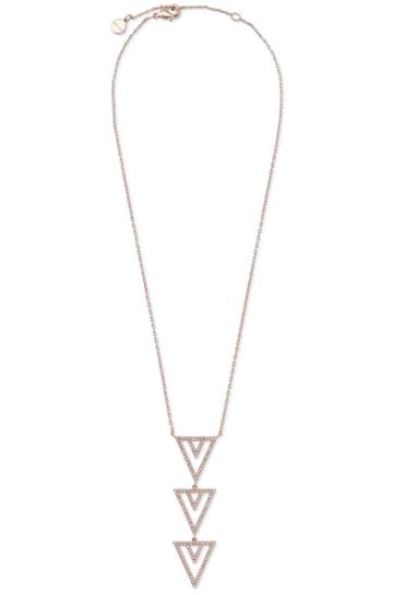 Stella & Dot Pav Spear Pendant Necklace - Rose Gold