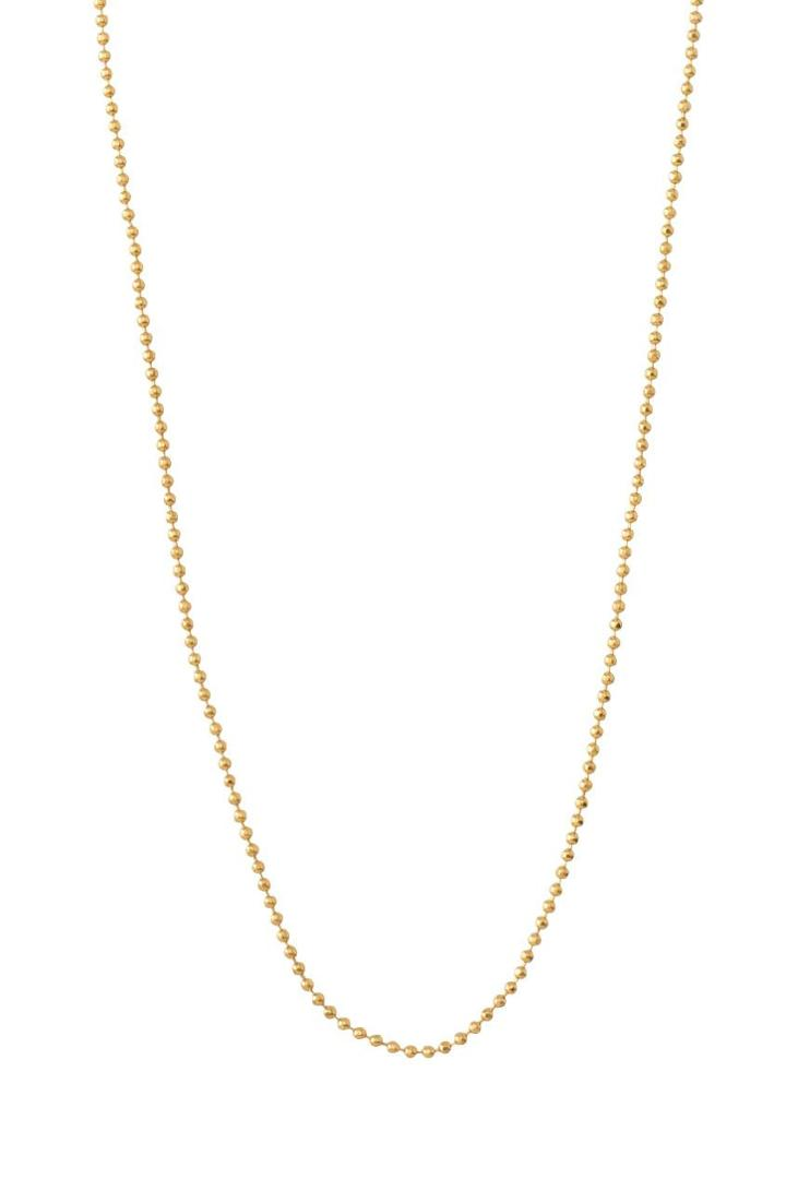 Stella & Dot 30  Faceted Ball Chain - Gold