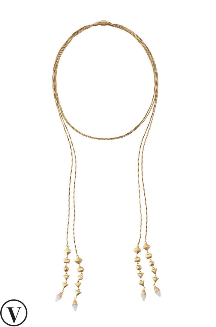 Stella & Dot Brynn Lariat Necklace - Gold