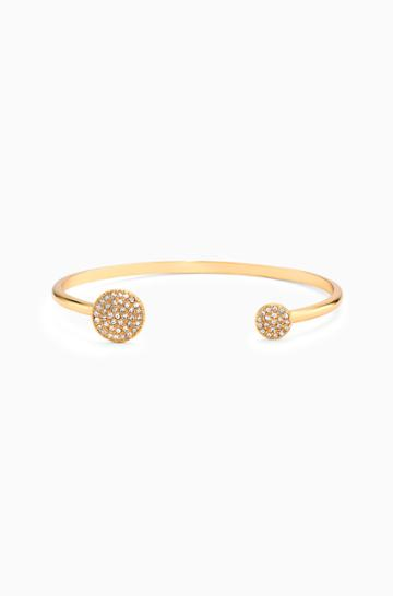 Stella & Dot Pave Disc Cuff - Gold