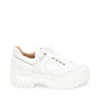 Block White Leather