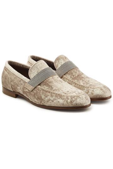 Brunello Cucinelli Brunello Cucinelli Velvet Loafers With Embellishment