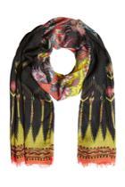 Etro Etro Printed Wool-silk Scarf - Black