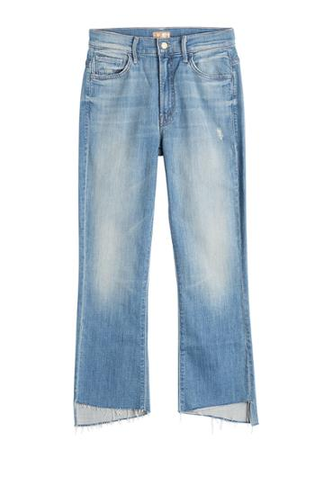 Mother Mother The Insider Crop Step Jeans