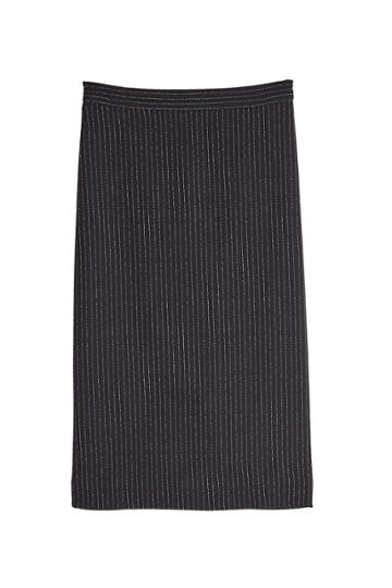 Boutique Moschino Boutique Moschino Virgin Wool Skirt With Pinstripes