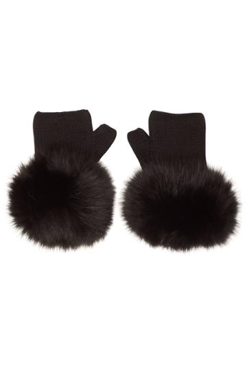 Moncler Moncler Wool Gloves With Fur