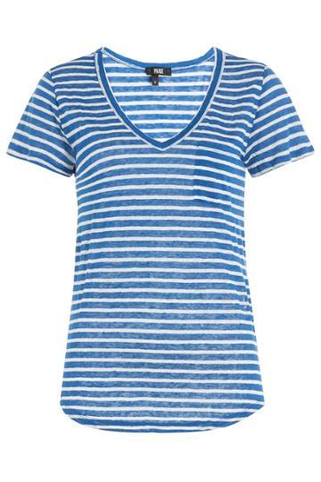 Paige Paige Striped Linen T-shirt - None