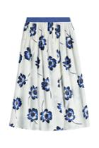 Agnona Agnona Printed Cotton Midi Skirt