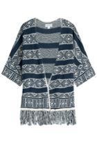 Velvet Velvet Cotton-linen Blend Cardigan - Blue
