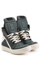 Rick Owens Rick Owens Textured Leather High-top Sneakers - Multicolor