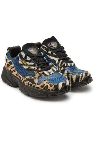 Adidas Originals Adidas Originals Falcon Sneakers With Haircalf And Printed Leather