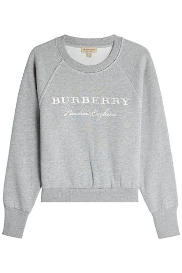 Burberry Burberry Embroidered Cotton Sweatshirt