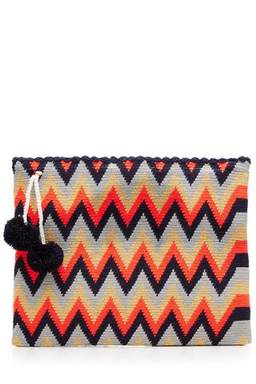 Sophie Anderson Sophie Anderson Woven Cotton Clutch - Black