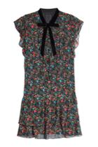Anna Sui Anna Sui Printed Silk Dress With Velvet
