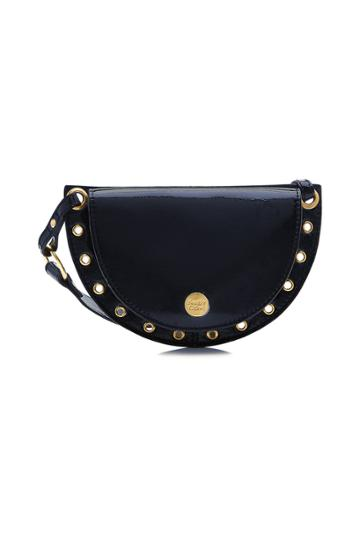 See By Chloé See By Chloé Patent Leather Shoulder Bag With Embellishment