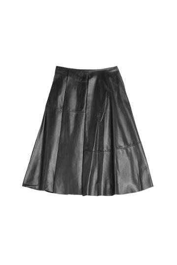 Vionnet Vionnet Leather Skirt - None