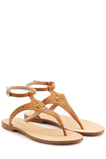 Vanessa Bruno Vanessa Bruno Embellished Suede Sandals