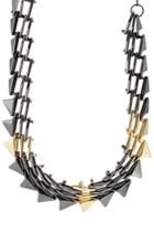Alexis Bittar Alexis Bittar Mixed Metal Spike Necklace