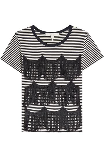 Marc Jacobs Marc Jacobs Striped Fringe Tee