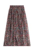 Iro Iro Printed Silk Chiffon Maxi Skirt