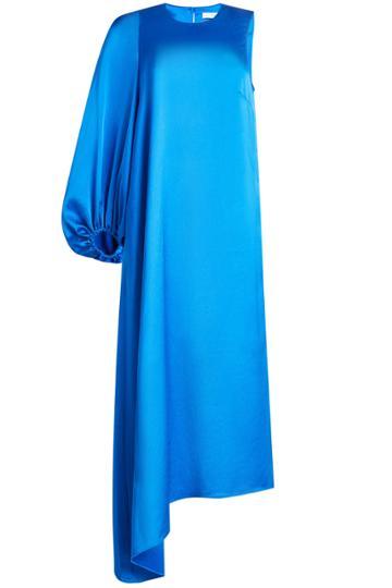 Tibi Tibi Satin Dress With One Sleeve