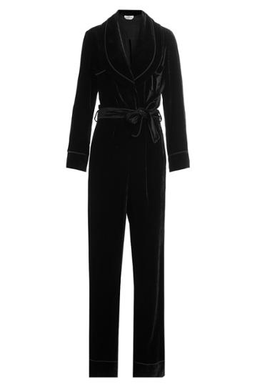 Fendi Fendi Velvet Jumpsuit With Silk - Black
