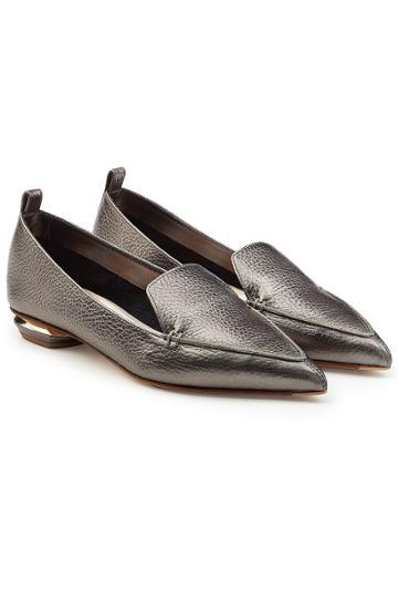 Nicholas Kirkwood Nicholas Kirkwood Beya Metallic Leatherloafers
