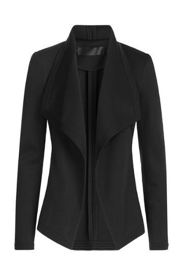 Donna Karan Donna Karan Draped Blazer - Black