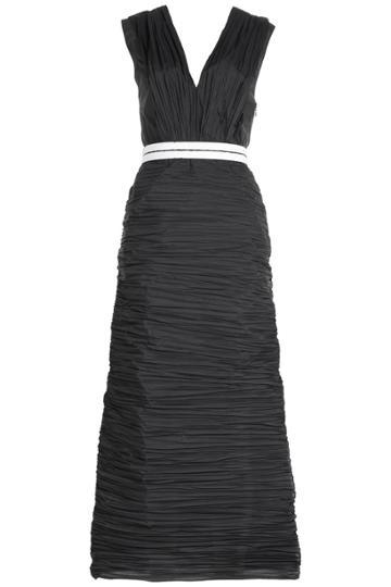 Vionnet Vionnet Pleated Gown - Black
