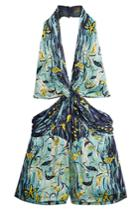 Anna Sui Anna Sui Gone Fishing Silk Romper