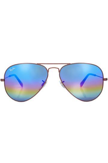 Ray-ban Ray-ban Aviator Sunglasses With Mineral Flash Lenses