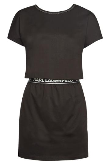 Karl Lagerfeld Karl Lagerfeld Stretch Cotton Cross Back T-shirt Dress
