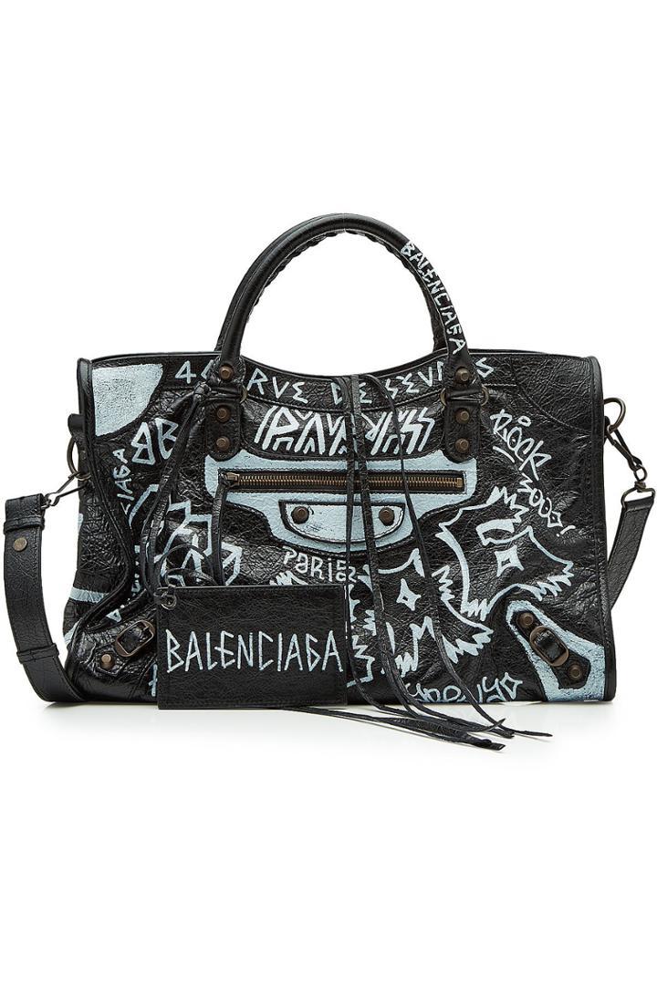 Balenciaga Balenciaga City Graffiti Leather Tote