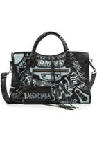 Balenciaga Balenciaga City Graffiti Leather Tote