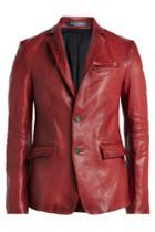 Alexander Mcqueen Alexander Mcqueen Leather Blazer