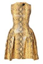 Simone Rocha Simone Rocha Snakeskin Cocktail Dress
