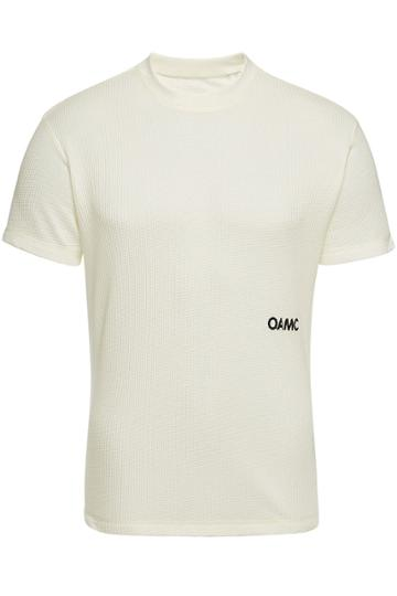 Oamc Oamc Waffle T-shirt With Cotton And Cashmere