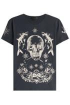 Alexander Mcqueen Alexander Mcqueen Printed Cotton T-shirt - Blue