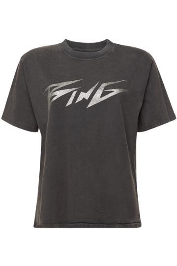 Anine Bing Anine Bing Bing Glitter Cotton T-shirt