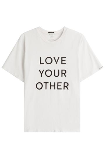 Mother Mother Printed Cotton T-shirt - White